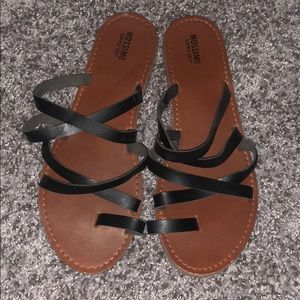 Black strappy Sandals!